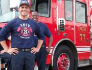 Custom t-shirts for firemen.