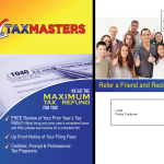 tax company post card