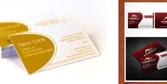 custom Business cards designs of elephant head graphics. Novi, MI