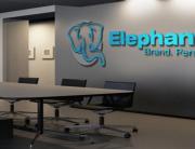 Wall indoor sign inside Elephant Head headquarters