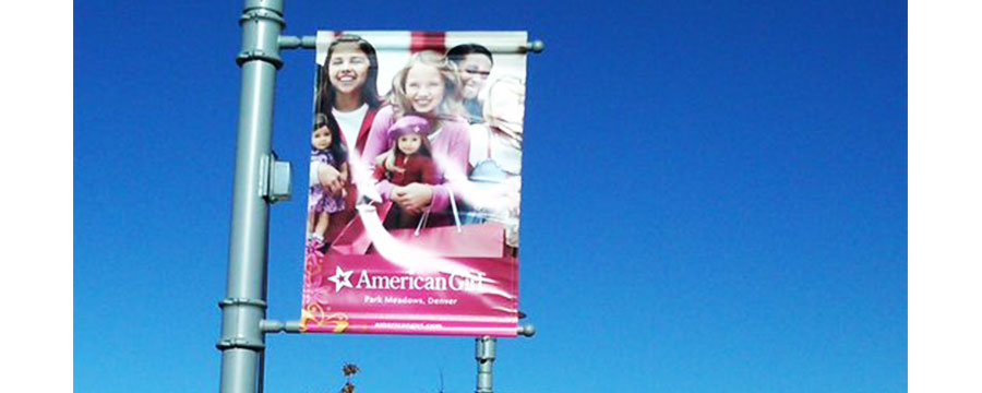 full color digital printed pole banners