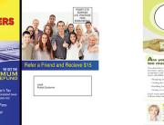 Post card and door hanger advertisements.