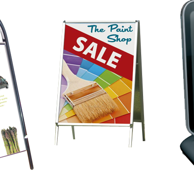 Three Full-Color A-Frame Signs