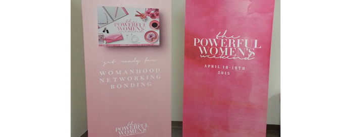 Pink women banners