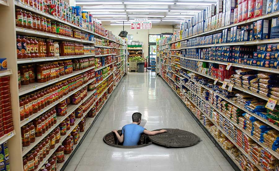 3d grocery store floor graphics