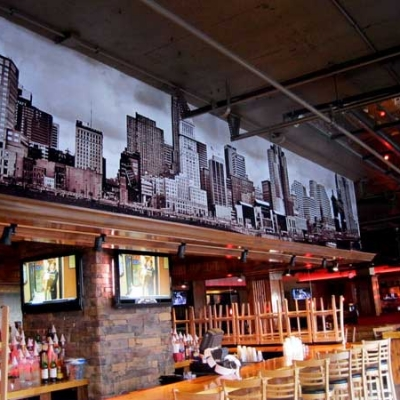 wall mural for bar