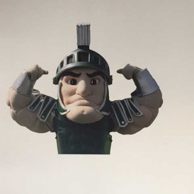 Sparty wall decal