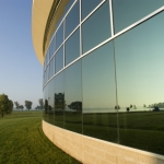 window tint of commercial building