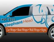 Elephant Head Dodge journey company vehicle wrap