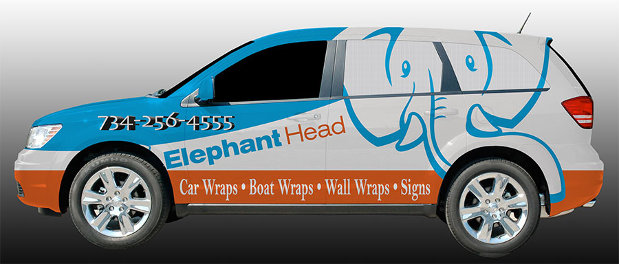 Elephant Head Dodge journey company vehicle wrap