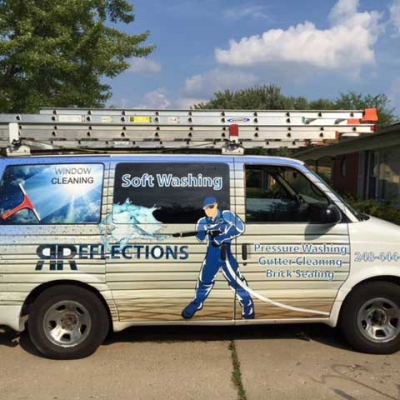 vehicle wrap for window cleaning company