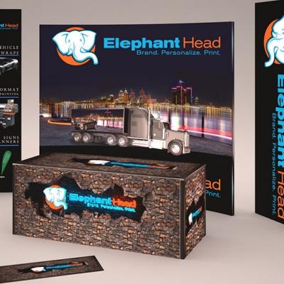 Trade show display graphics