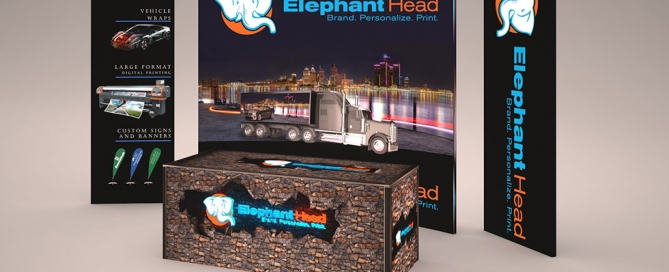 Trade show display graphics