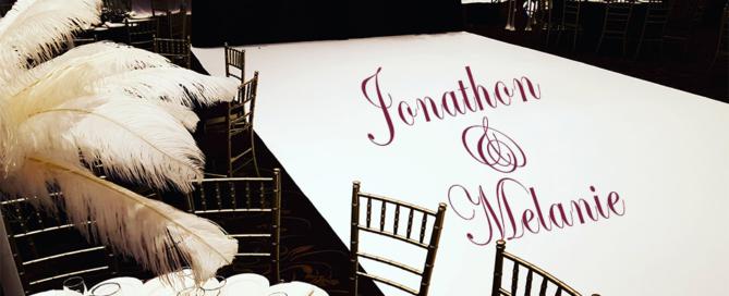Wedding Dance floor wrap
