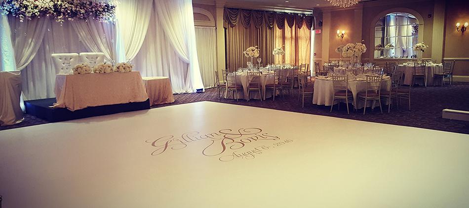 Custom Wedding Dance Floor Wraps Serving Columbus Ohio Cleveland
