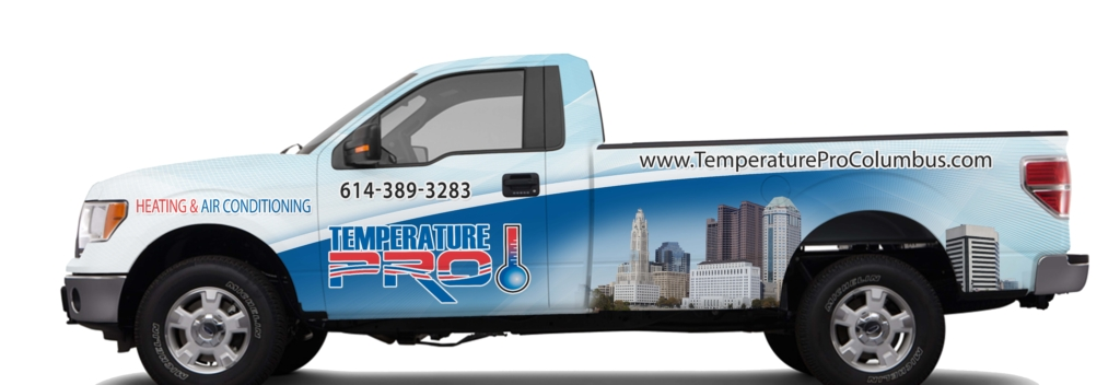 Heating and cooling f150 truck wrap ohio
