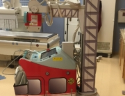 Firetruck themed portable xray machine wrap graphics