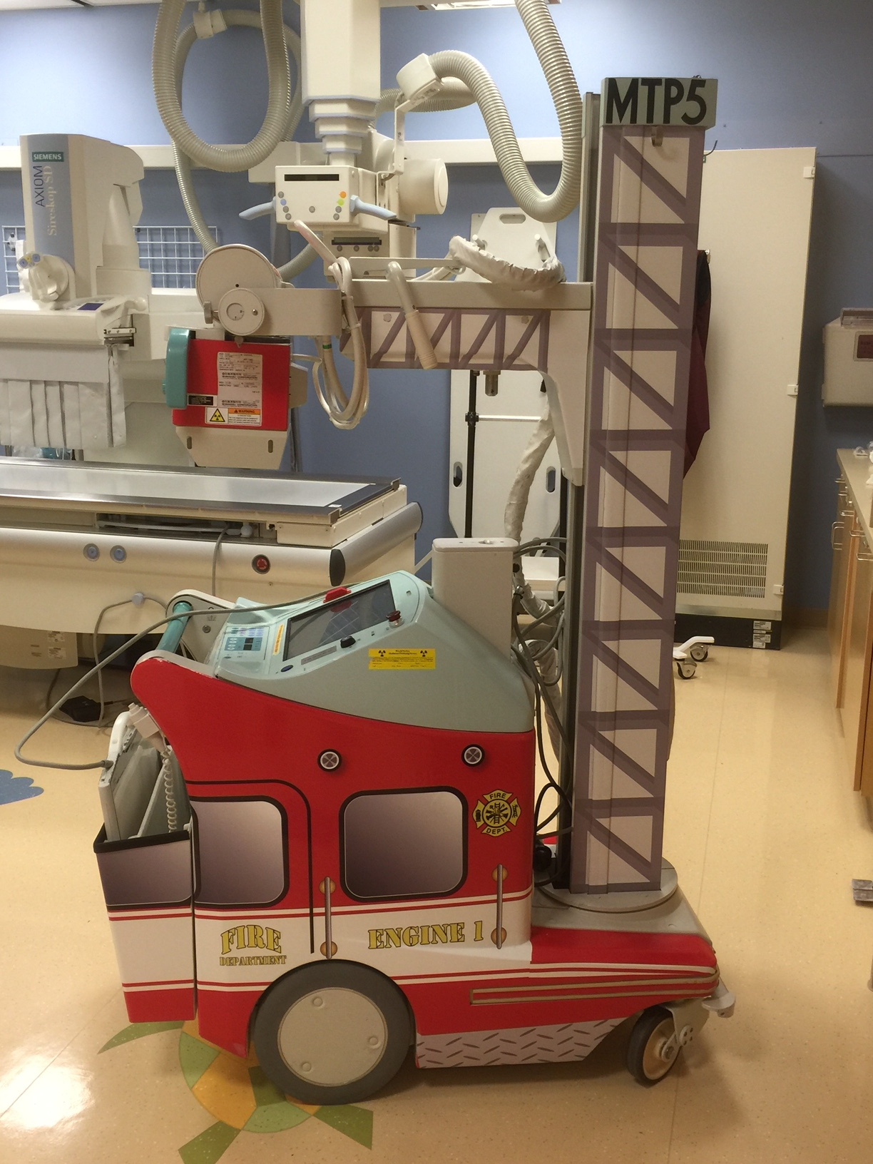 Firetruck Themed portable xray machine wrap graphics