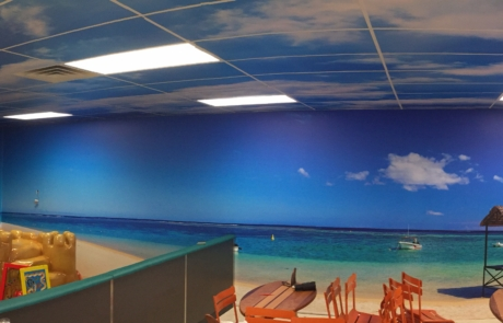 Custom Vinyl Wall Murals for frozen yogurt restaurant in Mason, West Virginia