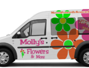 flower shop vehicle wrap columbus ohio